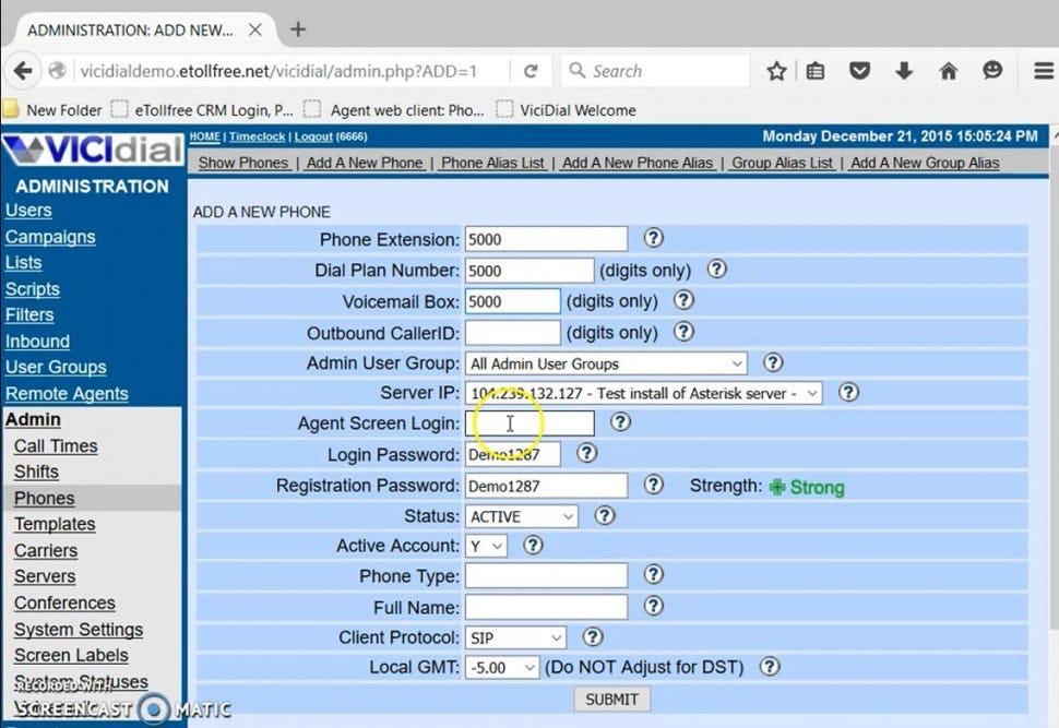 eTollFree Software - Add a new phone