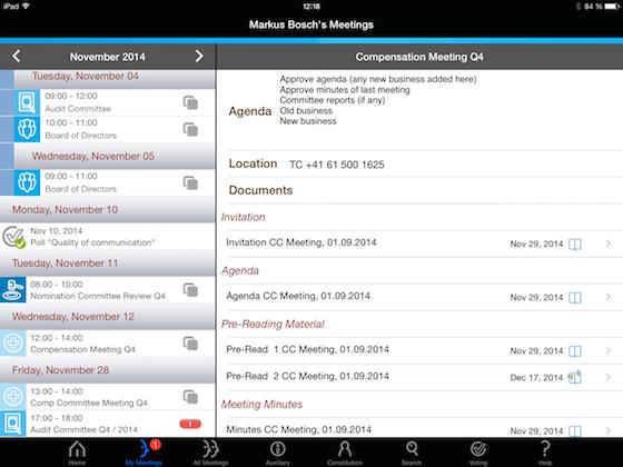 Twelve Directors' Portal Software - Twelve Directors' Portal calendar view