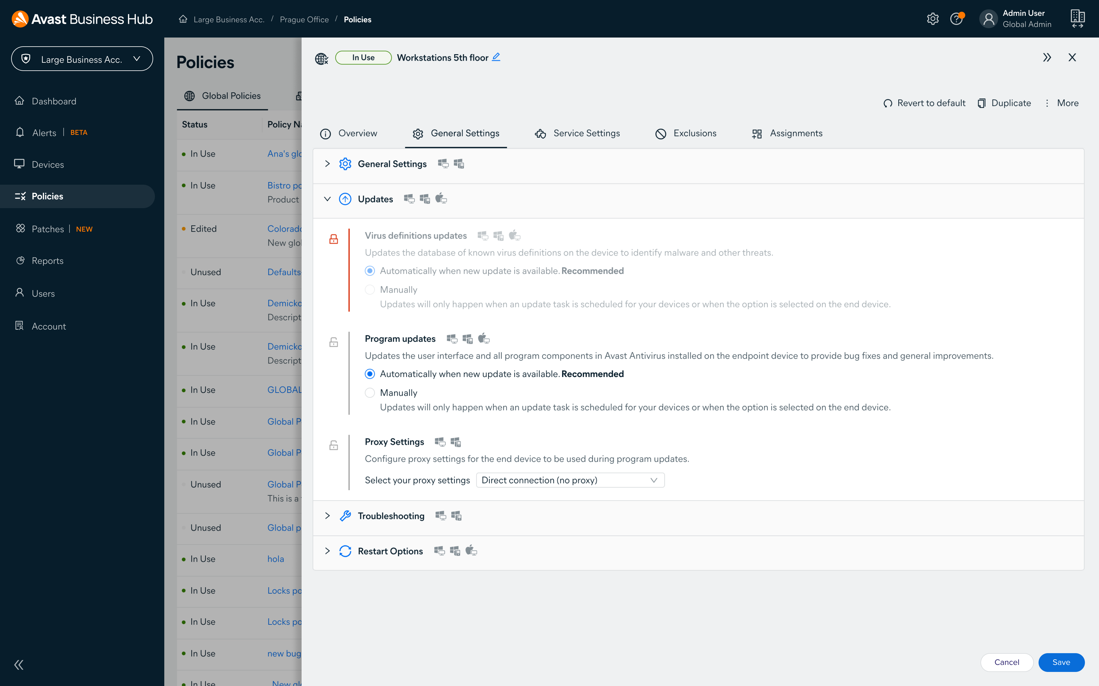 Avast Business Pro Plus Software - Apply commands across devices like scans, restarts, and more. Run commands automatically based on policy settings