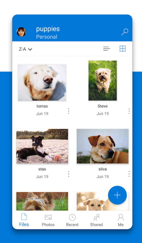 OneDrive Software - Backup photos on mobile