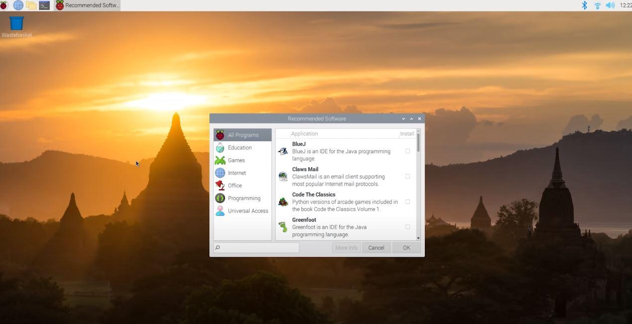 Raspberry Pi OS all programs