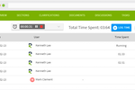 RFPIO screenshot: RFPIO automatically tracks how long each project takes and how much time each contributor spends, giving you visibility into the ROI of your proposal program—and who your high performers are.