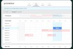Pronestor screenshot: Simple view of your booking flow