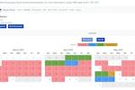 RDPWin screenshot: RDPWin owner portal calendar