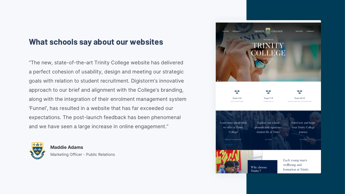 Digistorm Websites Software - What schools say about websites