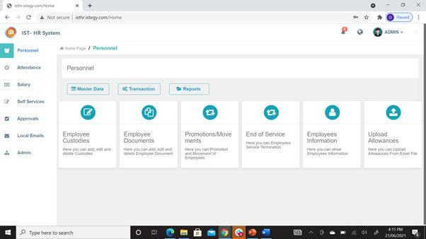 CloudWadi HR Software Software - 2