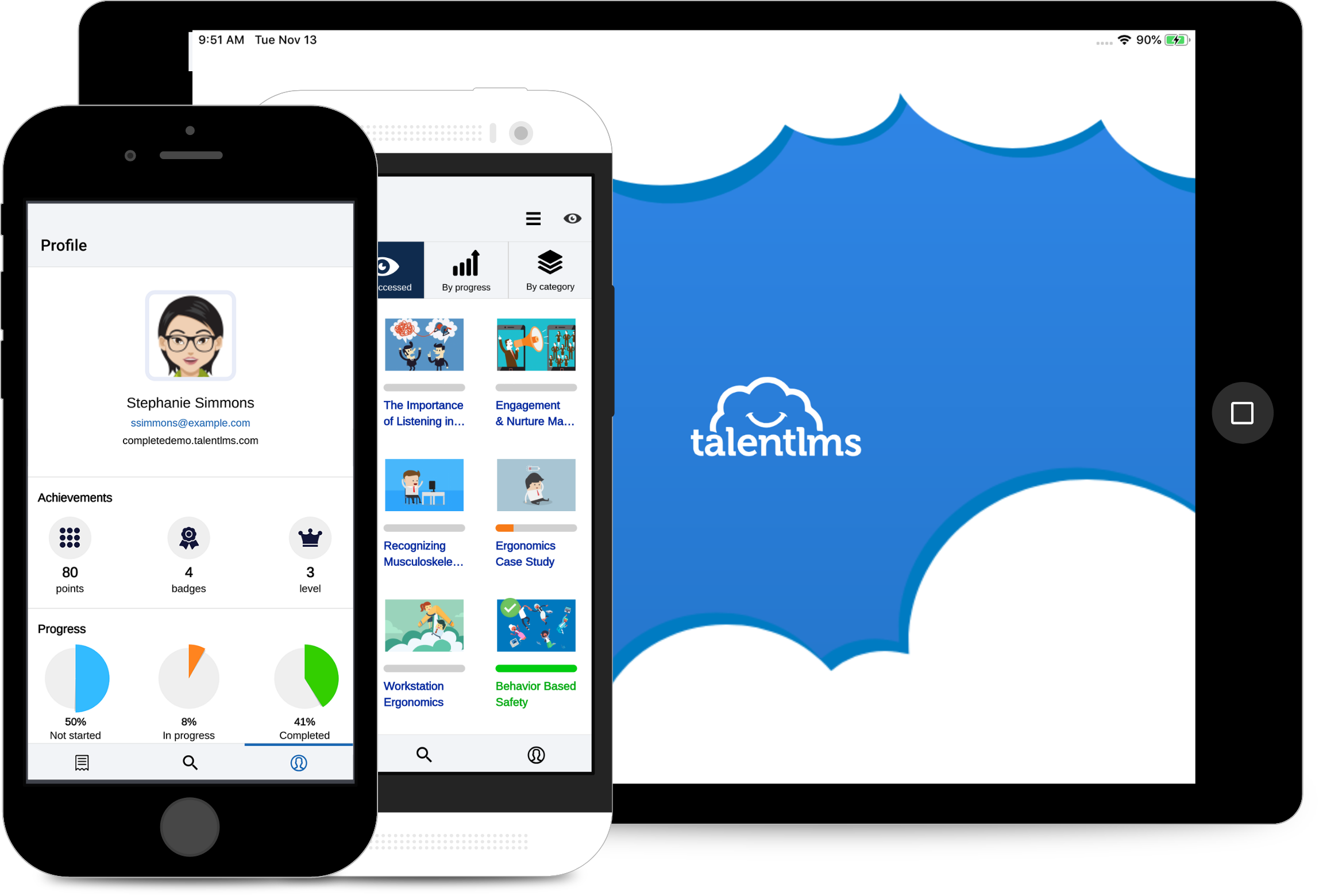 TalentLMS Mobile App available via App Store and Google Play