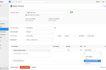 Capture d'écran pour Zoho Books : Zoho Books invoice creation