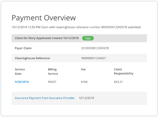 SimplePractice payment overview