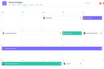 Schermopname van Asana: See any list of tasks on a calendar to get a clear view of when work is due. See all of each team's work in one calendar to know exactly who's doing what by when.