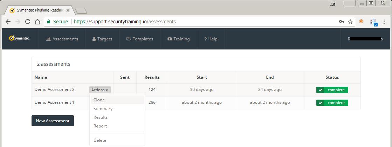Symantec Phishing Readiness new assessments
