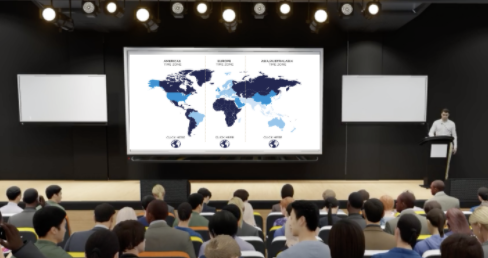 Set up an auditorium to organize and schedule on demand, simulated live or live presentations with live 1:1 audio and video chat.  Host your event in multiple timezones to cater for a global audience.