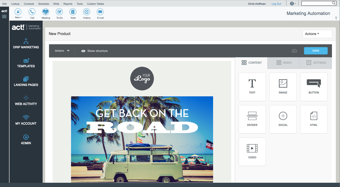 Act! Marketing Automation Template Editor