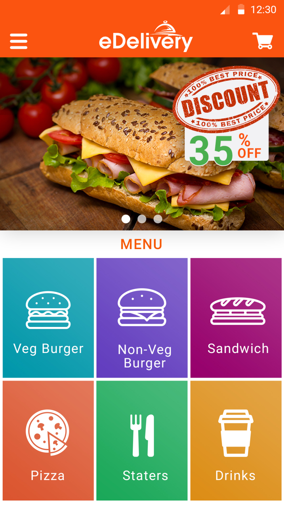 eDeliveryApp  screenshot: A range of templates and themes are included in eDeliveryApp
