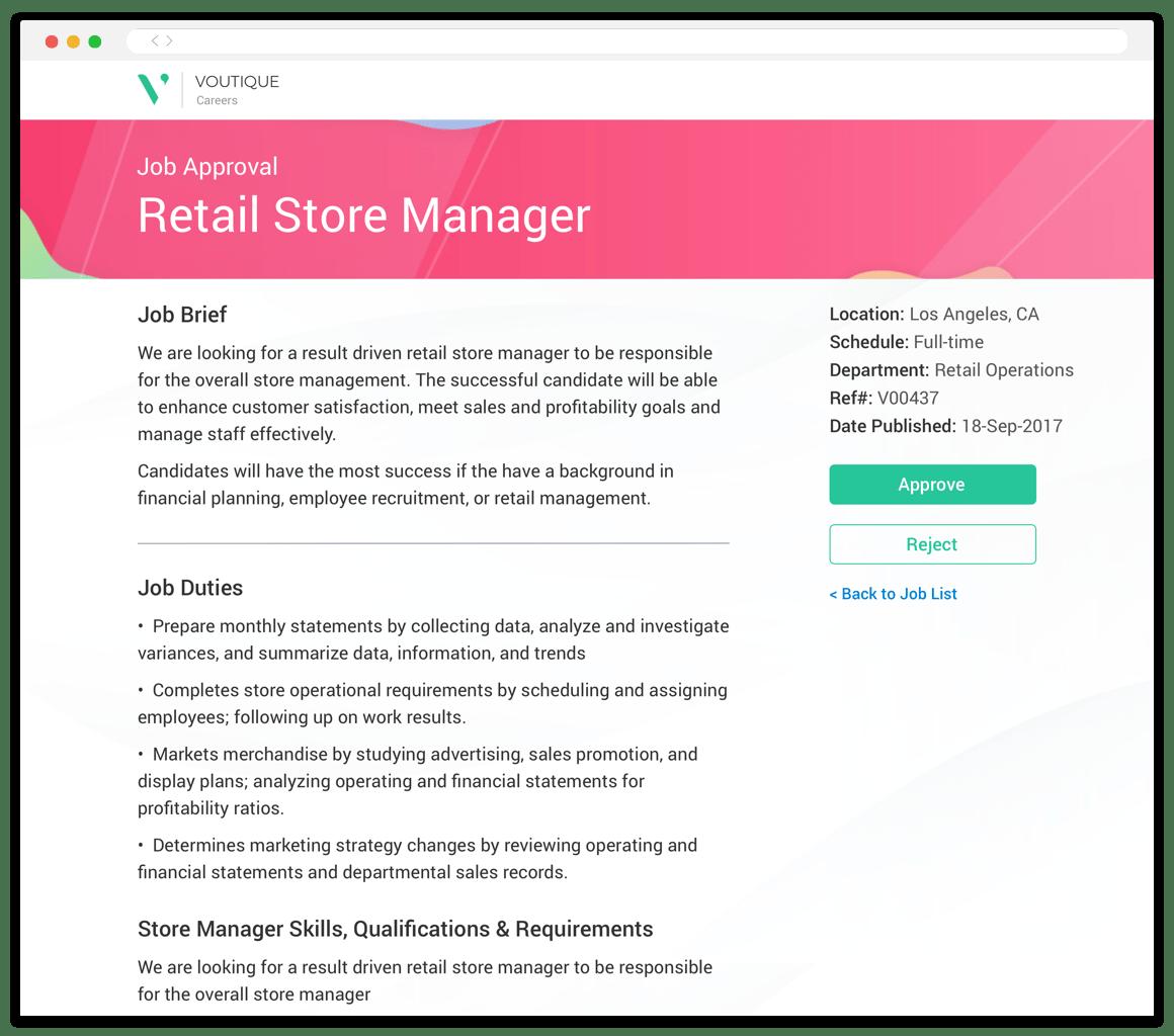 Avature career site screenshot
