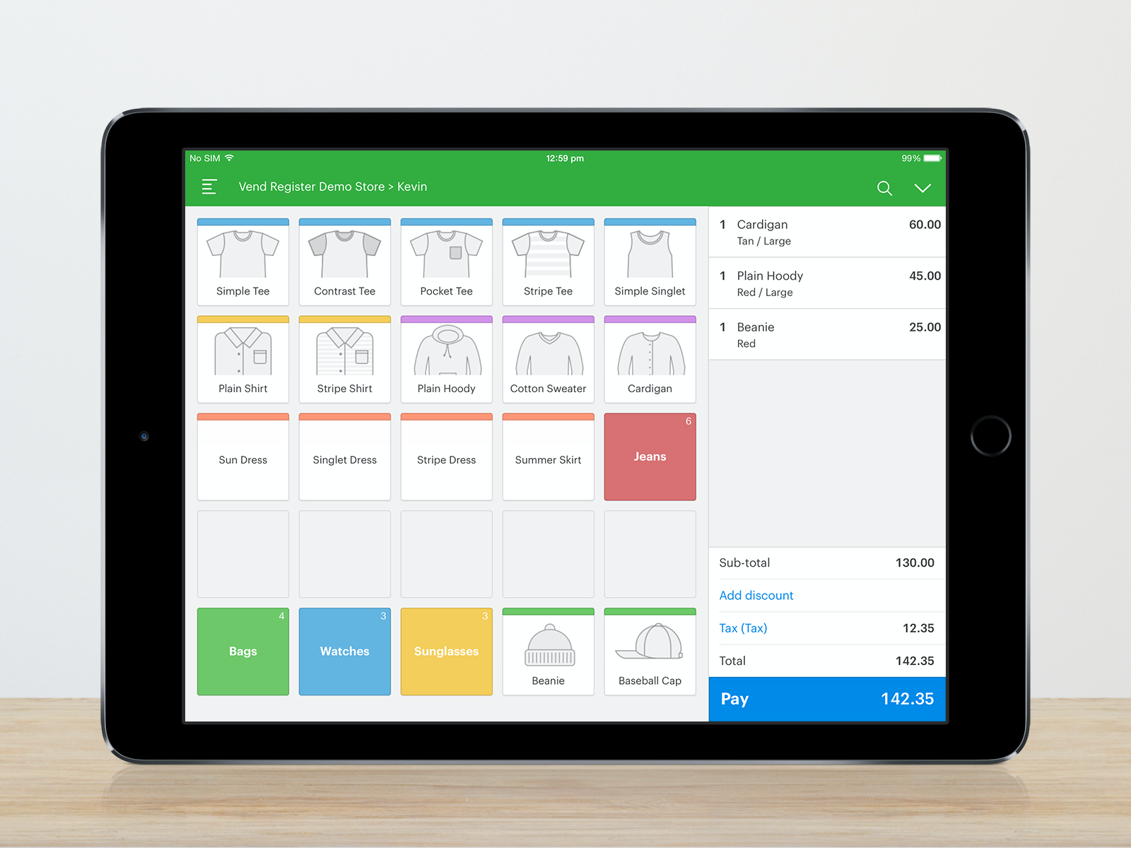 Sell in-store & on-the-go with Vend Register for iPad