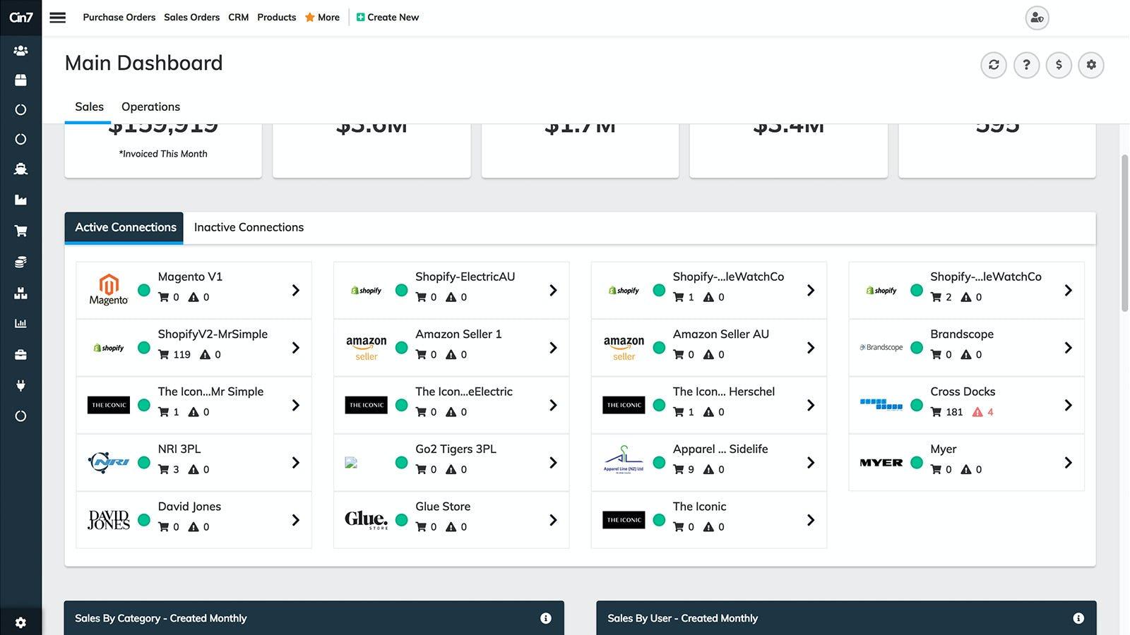 Cin7 Software - Cin7 connections