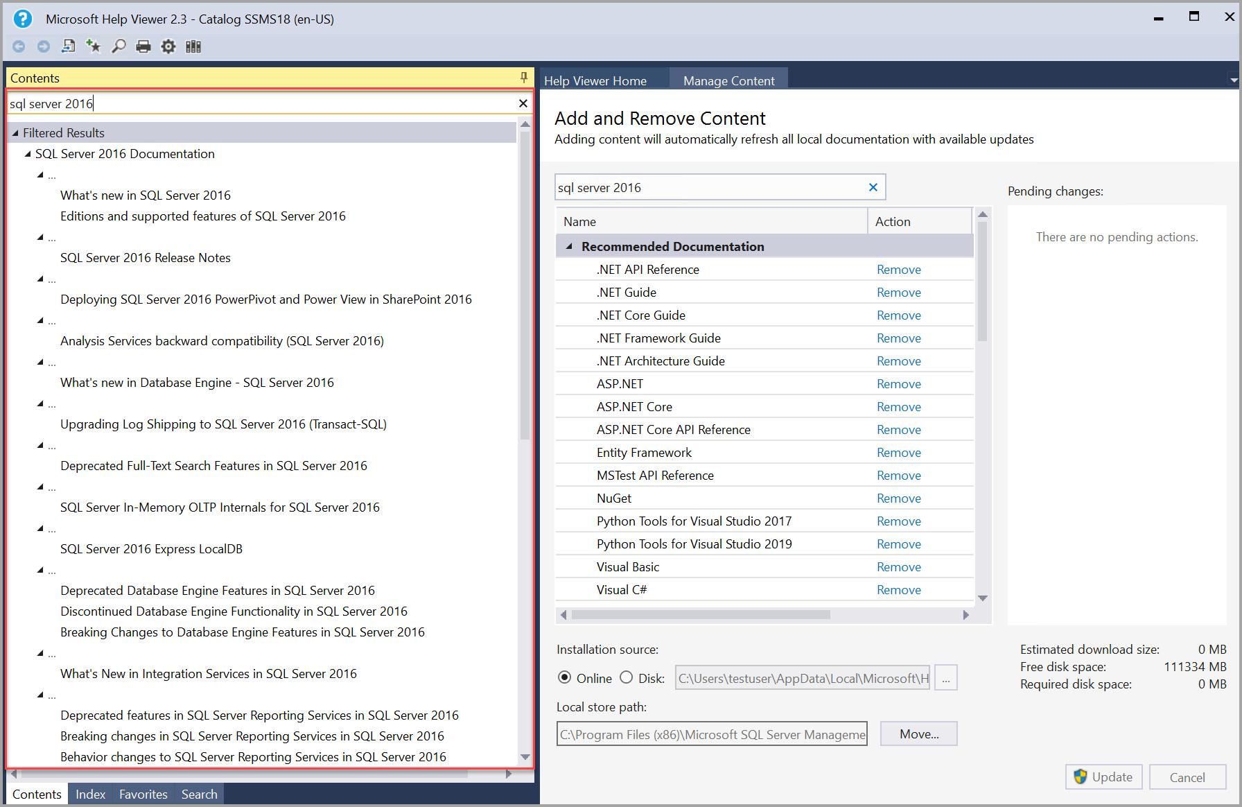 SQL Server search content