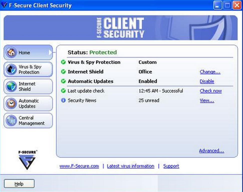 Client security window