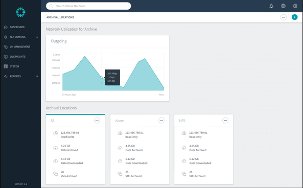 Users can monitor utilization and remote sites through Rubrik
