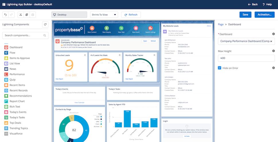 Propertybase Salesforce Edition Software - Dashboard 2