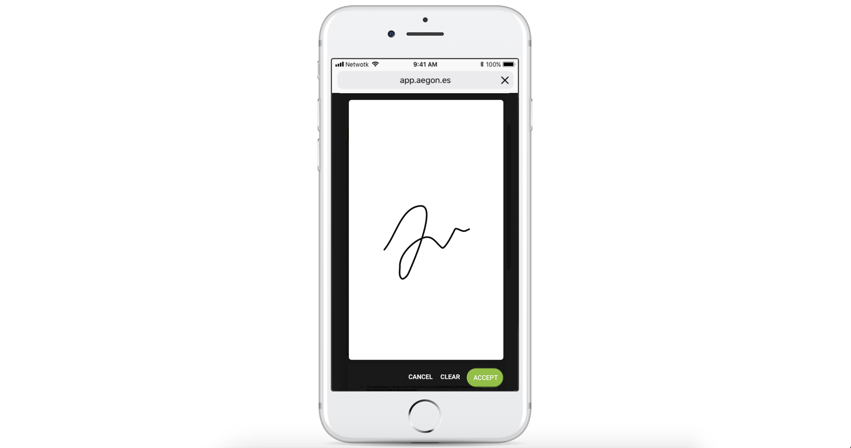 Completed signature