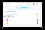 awork Screenshot: awork task lists