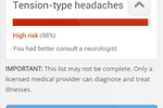 Infermedica API screenshot: Diagnoses can be displayed ranked by their probability