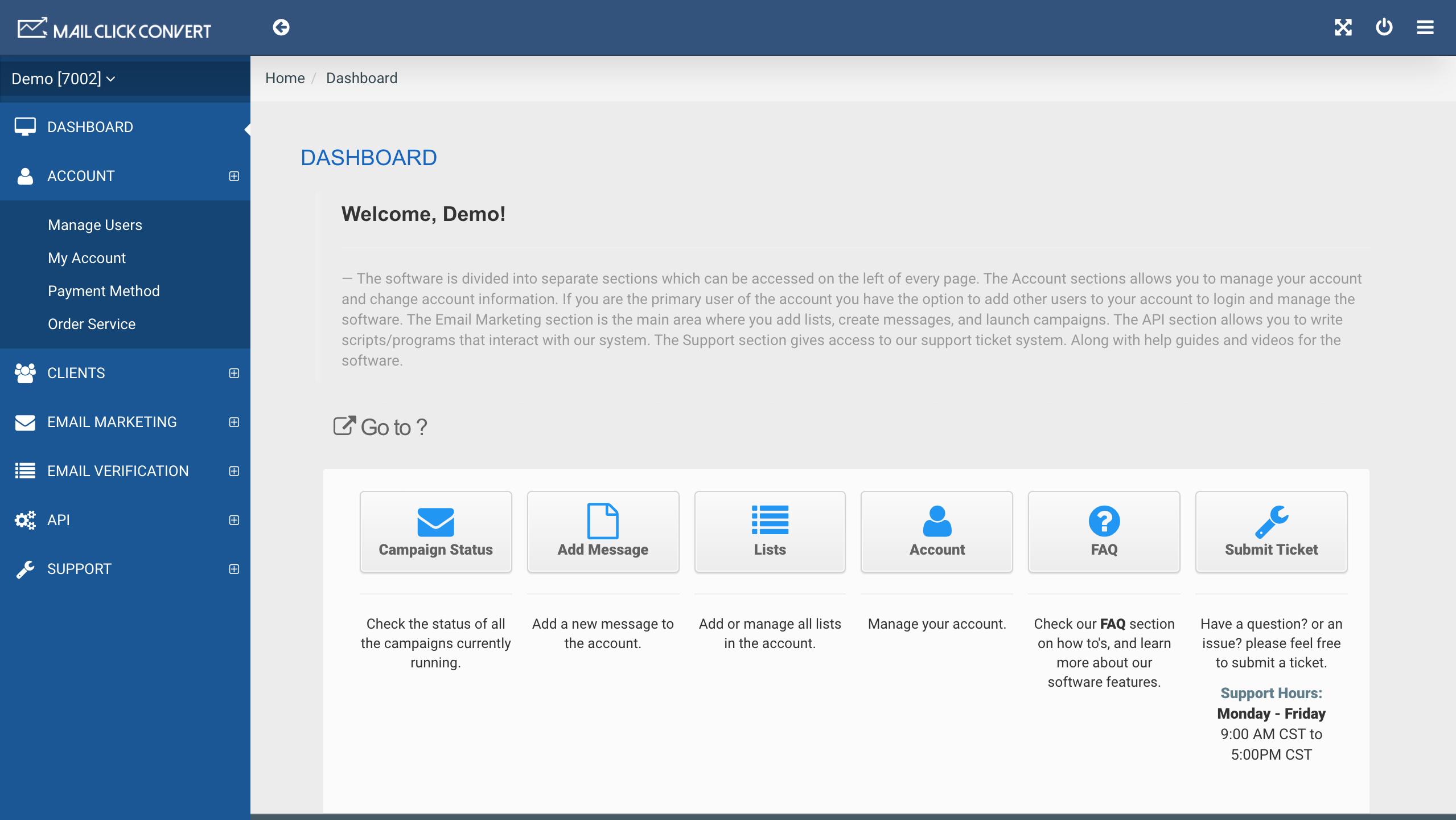 MailClickConvert Dashboard