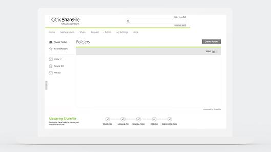 ShareFile Virtual Data Rooms folders