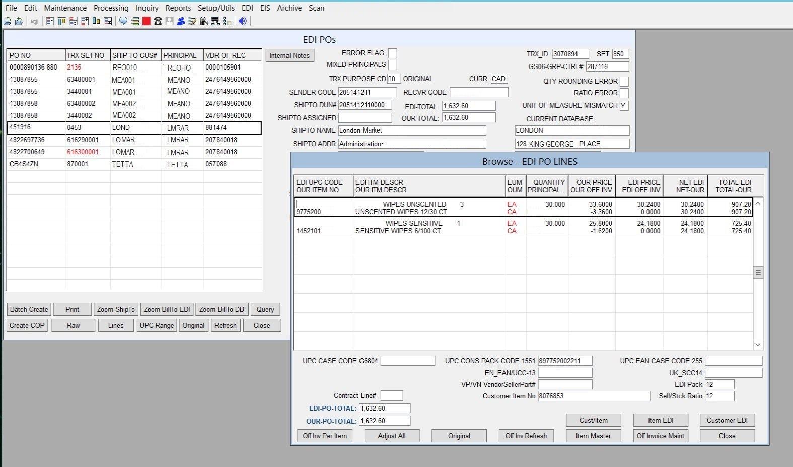 Synchronous ERP Software - EDI