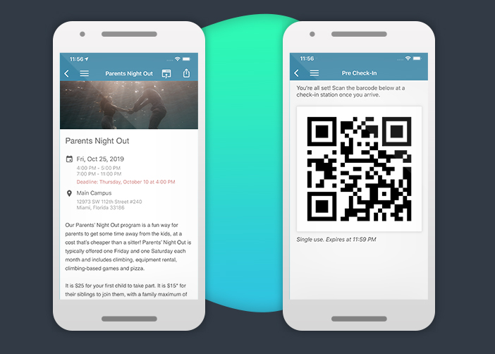 One Church screenshot: One Church: Event Management and Check-In