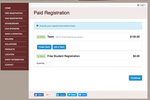 DoJiggy Pledge screenshot: Free and paid registrations are supported, with customizable registration fees