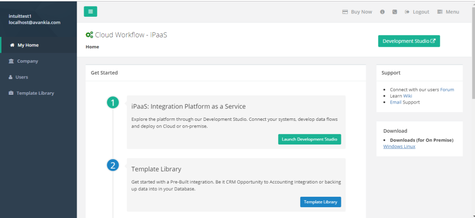 Cloud Workflow - iPaaS home page