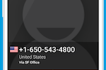 Toky screenshot: Make and receive phone calls from your website or virtual phone number in your smartphone