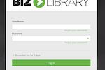 BizLibrary screenshot: BizLibrary user login page