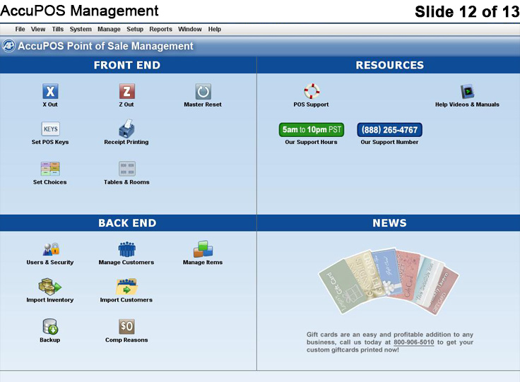 AccuPOS Software - Sales management