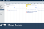 4me screenshot: 4me's change calendar automatically detects scheduling conflicts between changes.