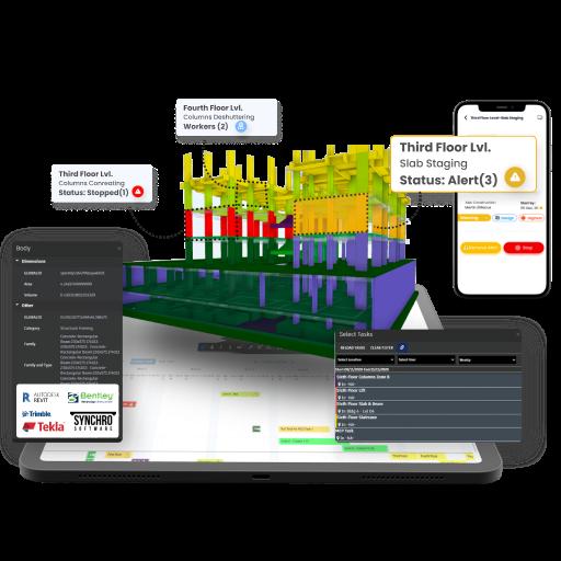 VisiLean Software - BIM Integration - Live 4D