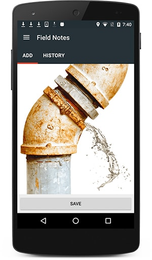 Site updates and incident logs can be captured on mobile devices as field notes, via text, voice or photos