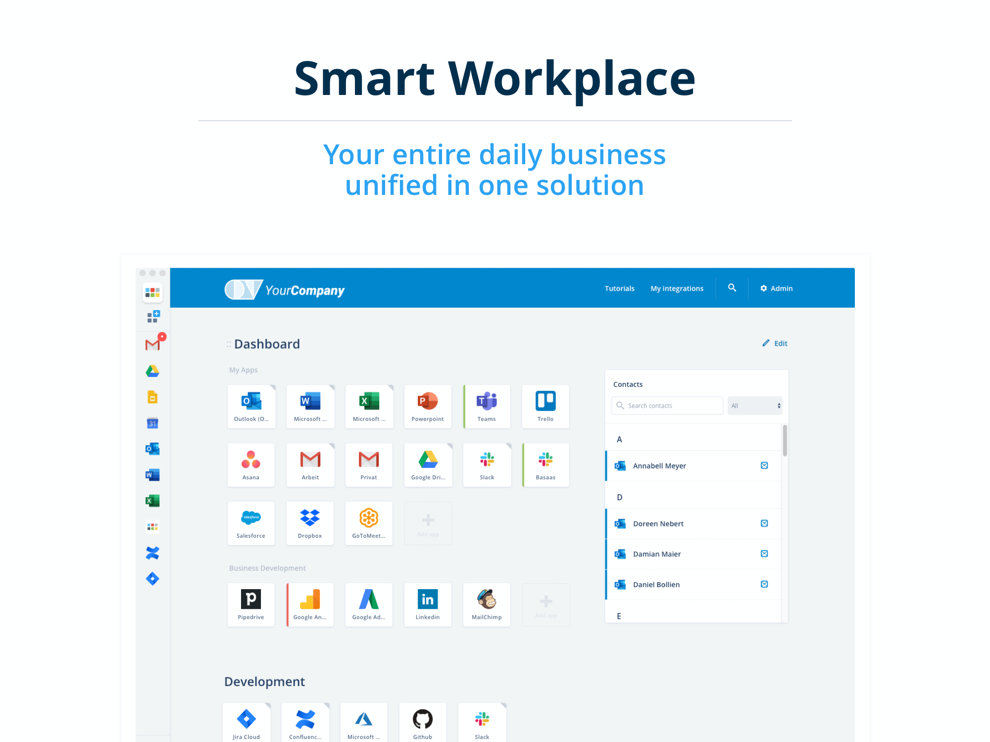 Basaas screenshot: Your entire daily business unified in one solution