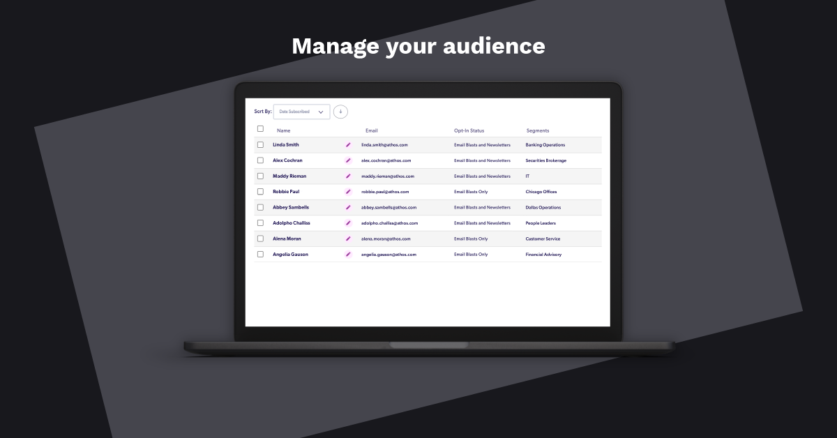 Manage your audience