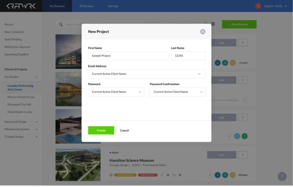 ReviewStudio Software - ReviewStudio project management