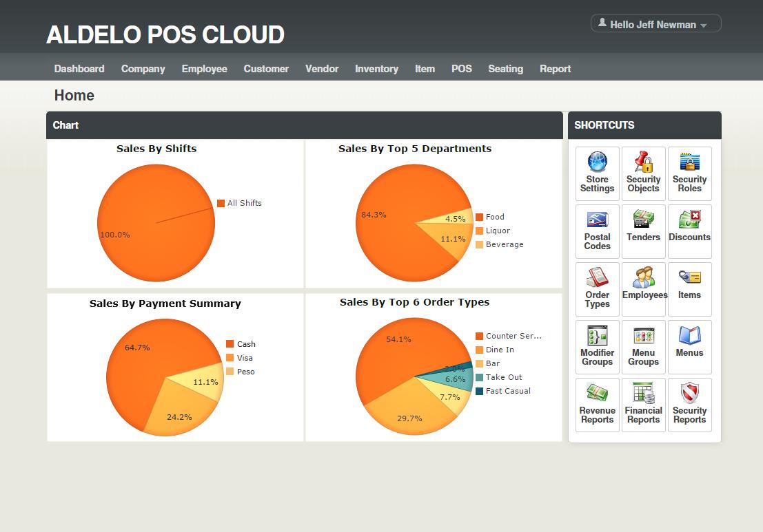 XERA POS Software - Sales screen %>