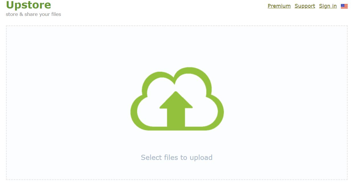 Upstore select files to upload