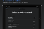 Capture d'écran pour Shopify POS : With buy online, ship to home, you can make the sale no matter where your inventory is stored.