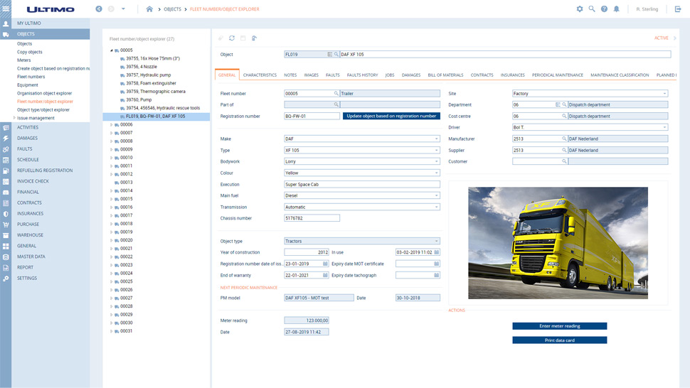 Fleet Management that enables users to stay up-to-date on activities