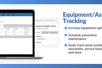 Captura de tela do BlueFolder: Increase equipment uptime and easily track serial numbers, warranties, service histories, and more.