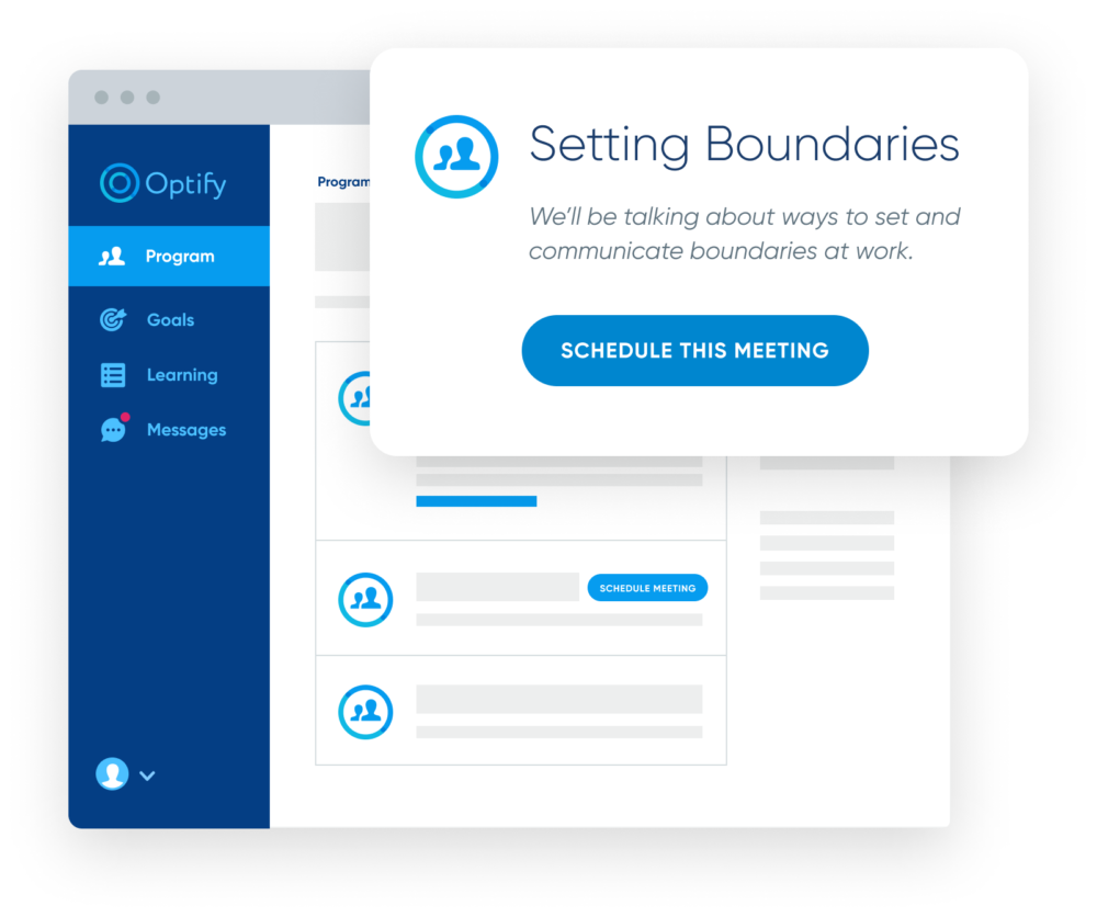 Optify meeting scheduling