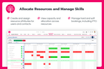 Inspire Planner screenshot: Allocate Resources and Manage Skills